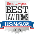 U.S. News - Best Law Firms - 2018